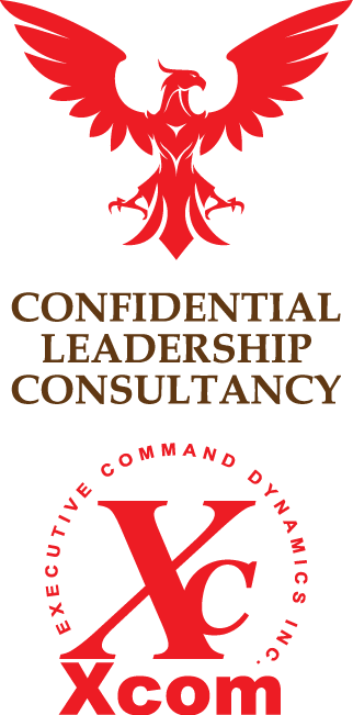 Xcom Seal + Eagle Logo - executive command dynamics inc. - guy masterson - colorado - new york - strategy resource international - management consulting